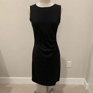 Such a beautiful black dress with full back zipper